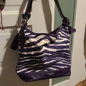 Purple zebra bag